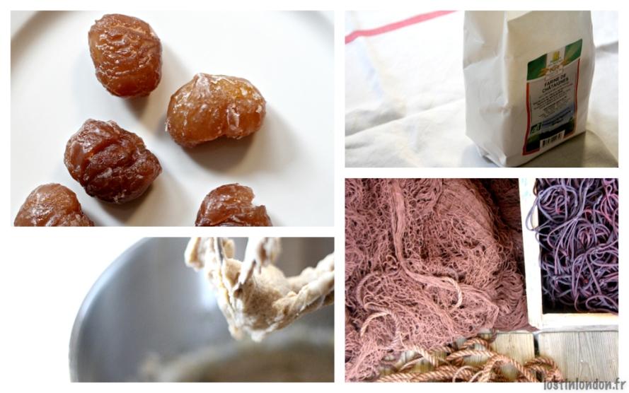 marrons et farine de châtaigne
