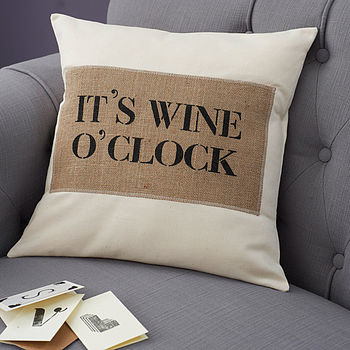 it-s-wine-o-clock-cushion-cover