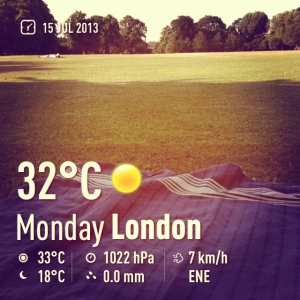 hot weather in London