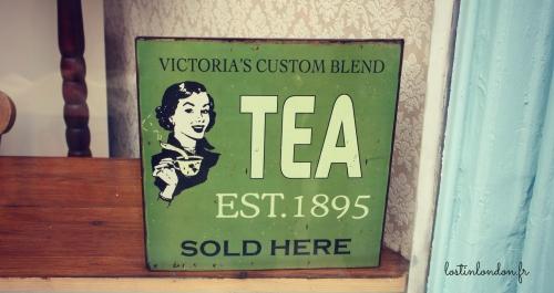 tea vintage sign