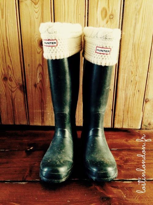 hunter welly fleece socks