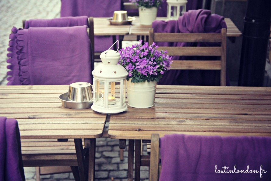 cafe sweden stockholm blanket purple