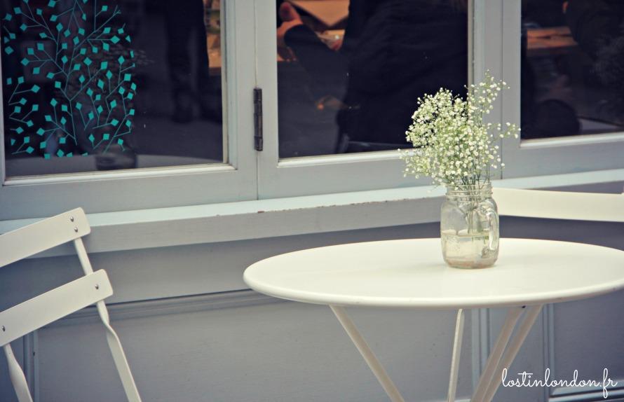 bouquet blanc terrasse Kinglys Street