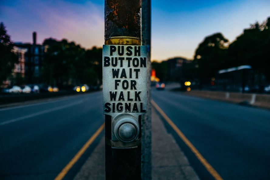 push the button